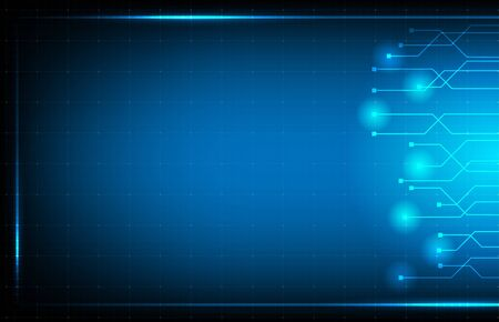 abstract background of blue hud ui interface technology background