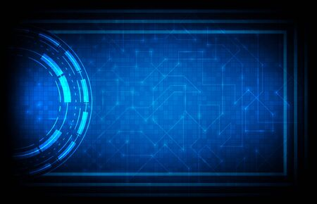 abstract background of blue futuristic hud sci fi interface background