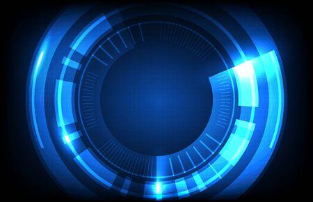 abstract background of round futuristic technology user interface screen hud Vektorgrafik