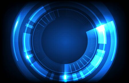 abstract background of round futuristic technology user interface screen hud Ilustração Vetorial