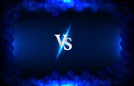 abstract background of blue Versus Battle boxing, wrestling fight