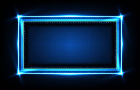 abstract background of square futuristic technology user interface screen hud Vektorové ilustrace