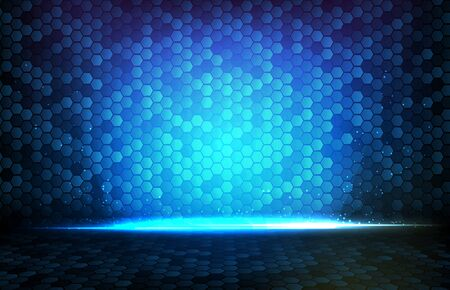 abstract background of blue glowing rectangle square