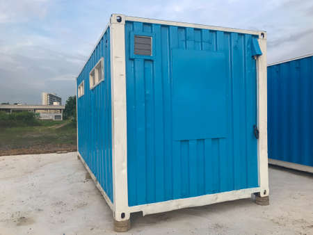 mobile containers box at construction site