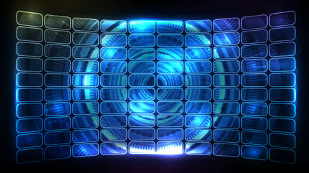abstract futuristic background of blue glowing hud ui frame element panel display Vectores