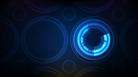 abstract background of futuristic circle round hud ui screen pattern