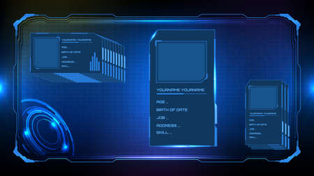 Abstract technology futuristic interface hud personal group profile sci fi concept.