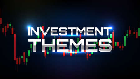 abstract background of investment theme stock market and indicator candle graph Ilustracja
