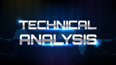 abstract background of technical analysis trading stock market MACD indicator technical analysis graph Illustration