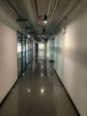 blurry of indoor private laboratory at Thailand