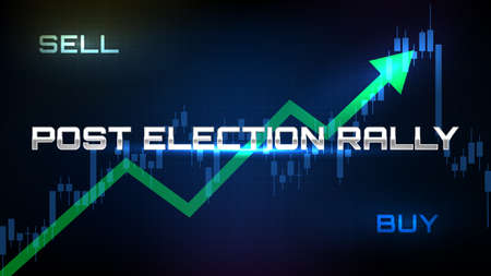 abstract backgroud of stock market post us presidential election rally