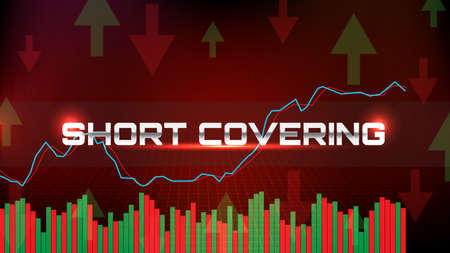 abstract background of Stock market crash graph short covering with stochastic oscillator