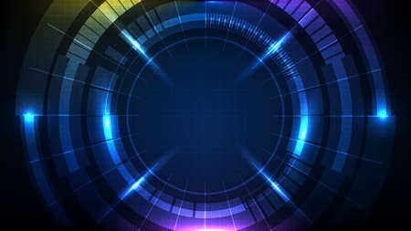abstract background of blue futuristic technology hud display interface