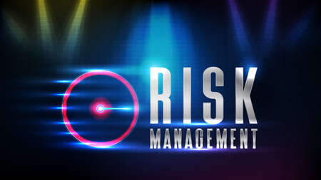 abstract background futuristic technology risk management text and ui speed meter guage maximum limit