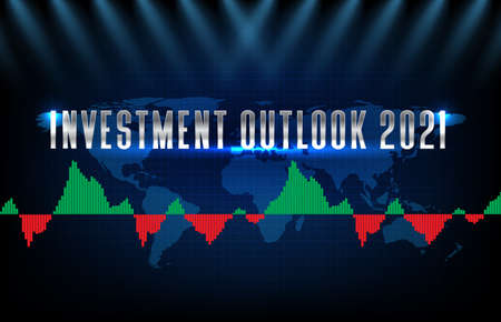 abstract backgroud of stock market investment outlook 2021 and macd oscillator