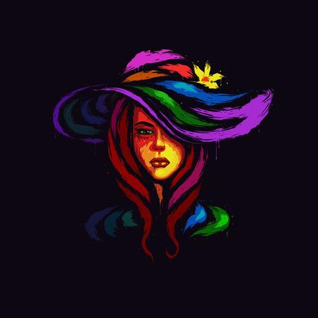 Acryl portret van een vrouw