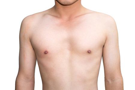 Hombre joven cuerpo pecho Foto de archivo - 43951913