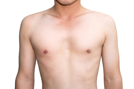 man in jeans: Young man body chest