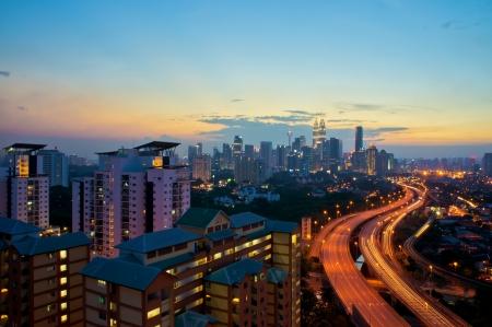 View of Kuala Lumpur city after sunset