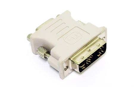vga: VGA al convertidor de visualizaci?n DVI aislado en el fondo blanco