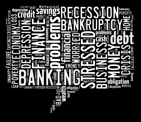 Finance info-text graphic and arrangement concept on black background  word cloud  photo