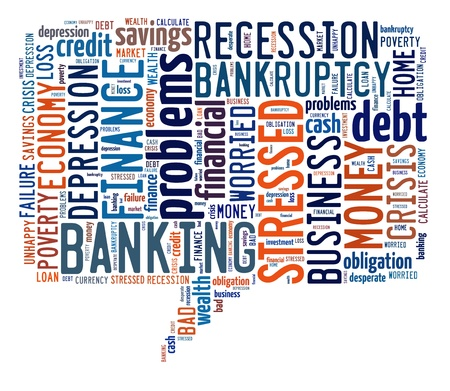 Finance info-text graphic and arrangement concept on white background  word cloud  photo