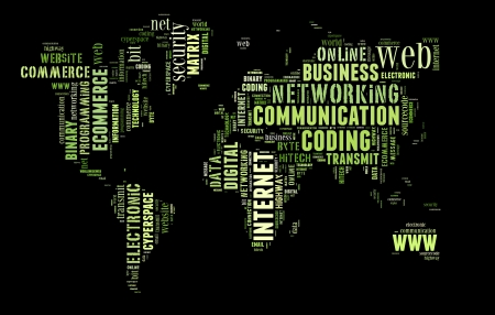 sourcecode: Digital technology info-colorful text graphic and arrangement concept on black background  word cloud  Stock Photo
