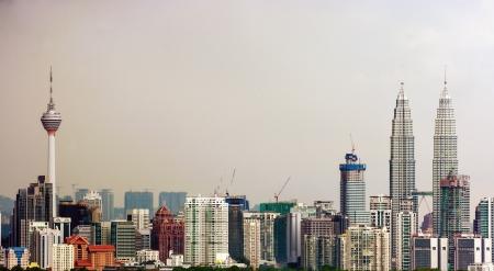 マレーシアの首都クアラルンプール スカイライン