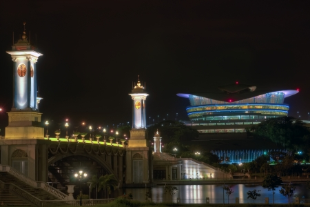 Putrajaya International Convention Center at night, Putrajaya Malaysia