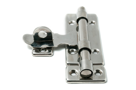 hasp: Stainless steel door pad bolt on white