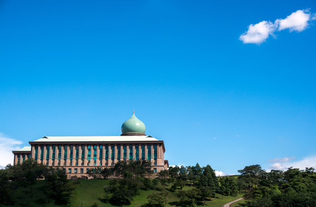 prime: Prime Minister Office Putrajaya Malaysia during a blue sunny day Stock Photo