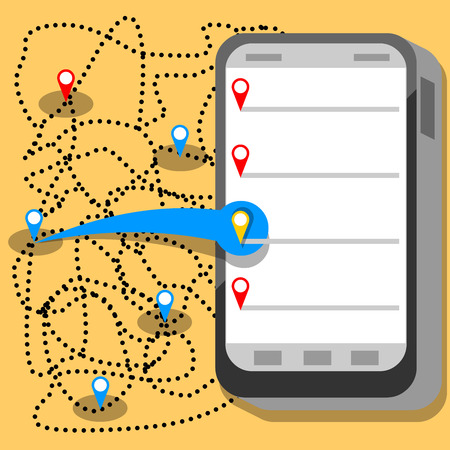 comunication: phone comunication map points app