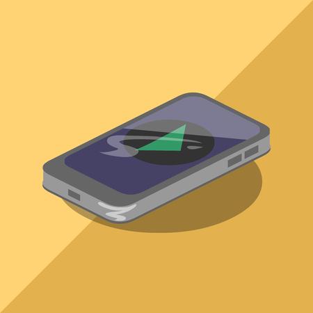 comunication: phone comunication isometric icon music Illustration
