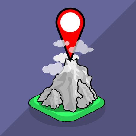 geo: isometric map points mountains travel icon geo mark