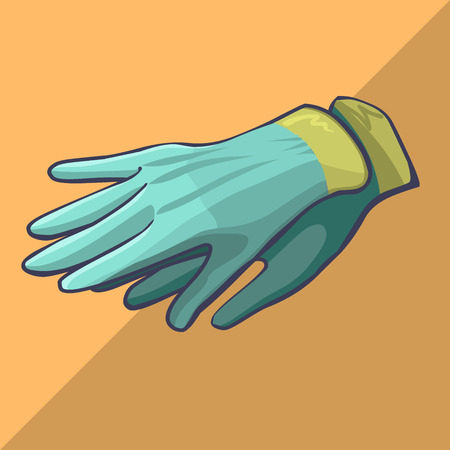 protective gloves: Work protective gloves hobby gardening isometric cartoon