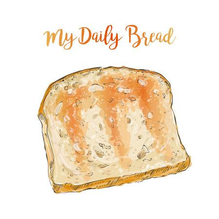 toasted bread: vector toasted bread Illustration