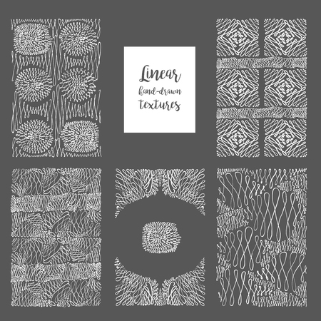 stroking: Set curls doodle vector pattern