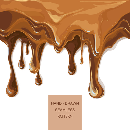 vector syrup drip pattern on cake layers