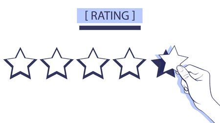 Ratings from 1 to 5 star vector illustration