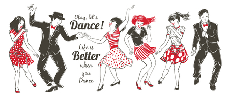 Danse ensemble de gens