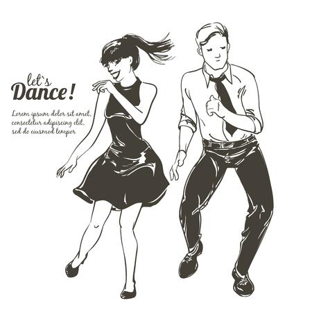 Tanzende Leute setzen