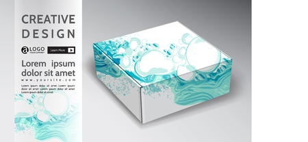 box background creative abstract vector energy design  イラスト・ベクター素材