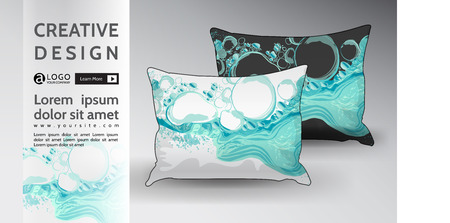 pillow Mock Up creative abstract vector energy design  イラスト・ベクター素材