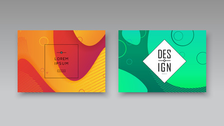 Banner covers template set modern abstract background. Vector art illustration