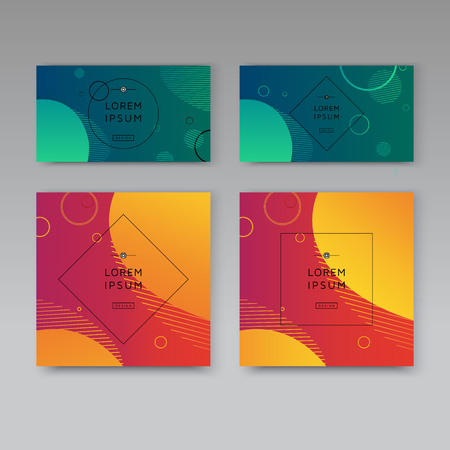 banner covers set modern abstract vector template Ilustrace