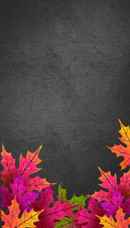 Autumn leaves. Autumn background with space for text.