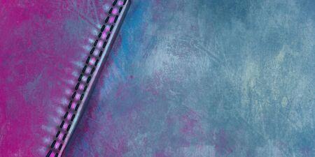 Denim background. Denim in blue with a seam. Shabby jeans illustration Stok Fotoğraf