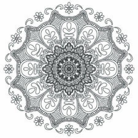 Mandala Vector Art Pattern Design Ilustración de vector