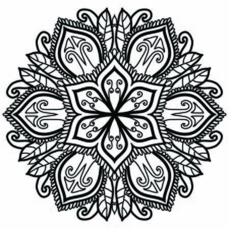 Conception de modèle d'art vectoriel mandala