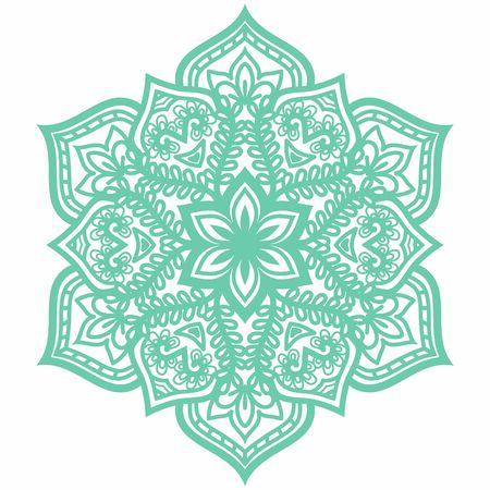 Hindi Mandala Vector Art Pattern Design Vettoriali